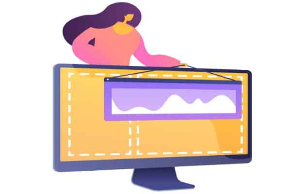 online app development with web frameworks concept