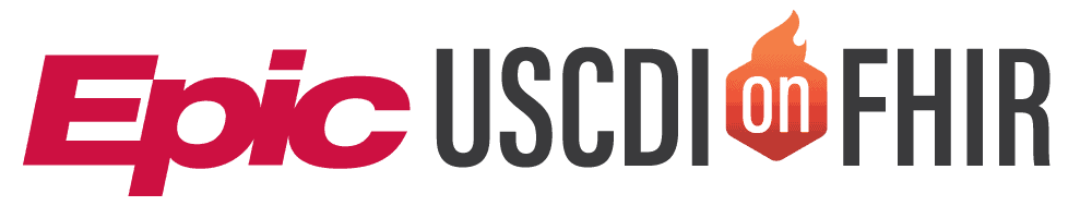 Epic USCDI on FHIR logo