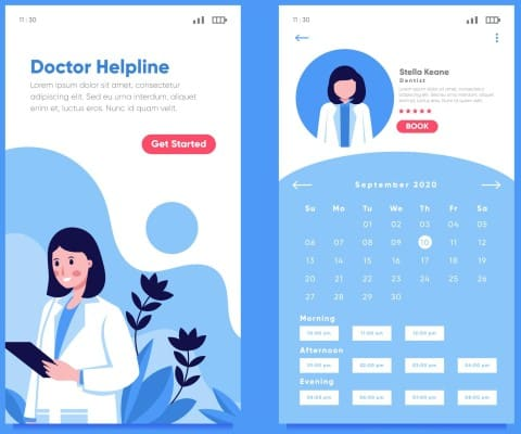 doctor scheduling app example