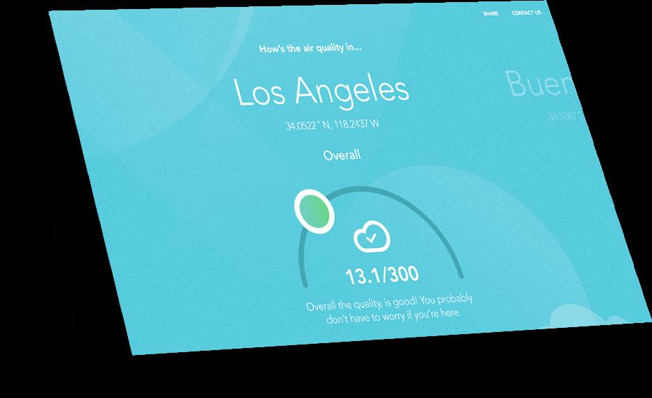 dashboard showing LA weather