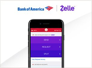 bank of america and Zelle integration