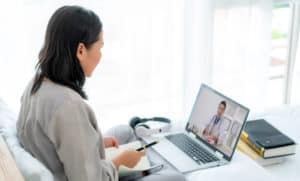 video conferencing with a doctor