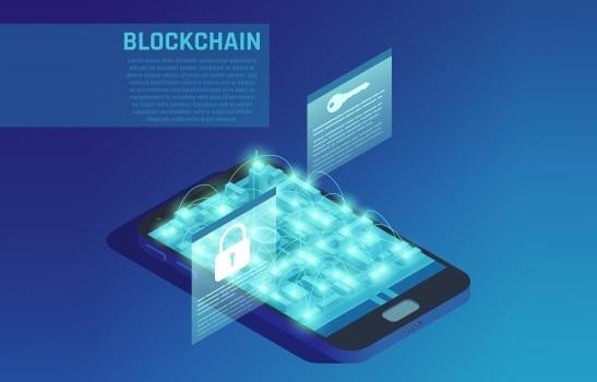 mobile blockchain app development concept