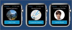 wearable app development example of enterprise watch os app