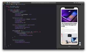 high level mobile framework example SwiftUI