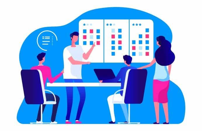 agile app development meeting
