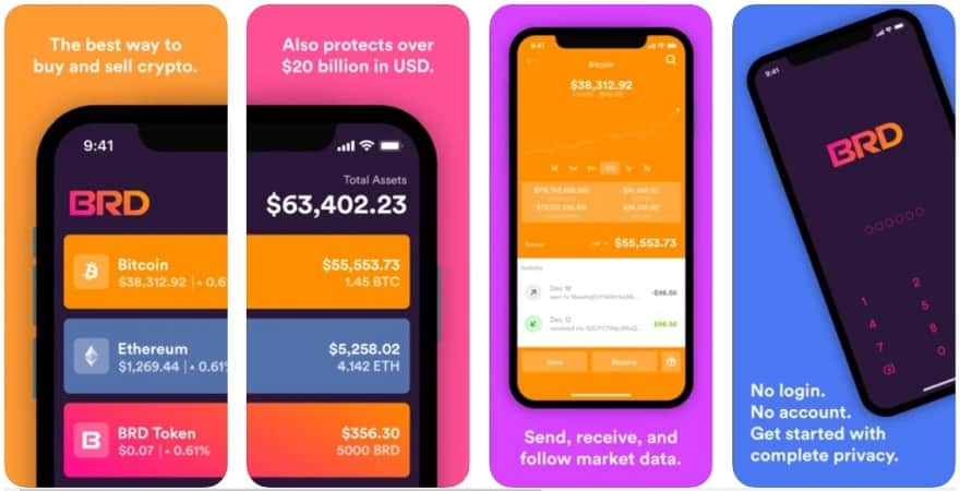 BRD cryptocurrency wallet